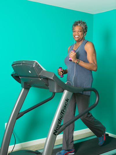 Donna Johnson is doing everything she can to manage her health, including following a vegetarian diet and exercising daily.